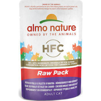 ALMO NATURE HFC CAT RAW POUCH 55gr